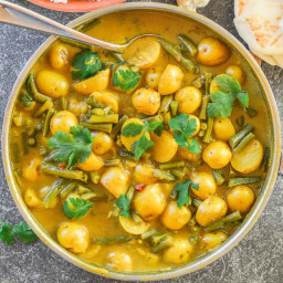 Super Simple Green Bean and Potato Curry