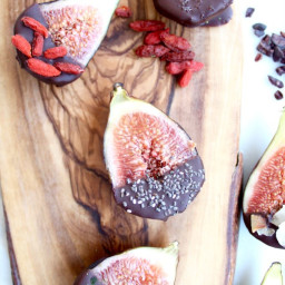 Superfood Dark Chocolate Covered Figs