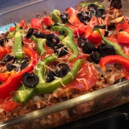 Supreme Pizza Cauliflower Casserole – Low Carb, Gluten Free