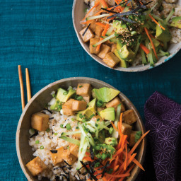 Sushi Rice Bowls with Tofu Teriyaki