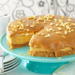 Sweet  and  Salty Peanut Butter Cheesecake