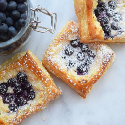 Sweet and Simple Blueberry Danishes!