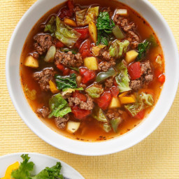 Sweet and Sour Beef-Cabbage Soup