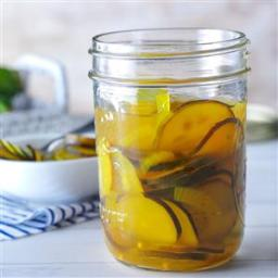 Sweet and Sour Zucchini Pickles Recipe