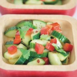 Sweet and Spicy Cilantro‐Cucumber Salad