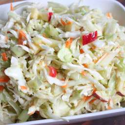 Sweet Apple Celery Coleslaw