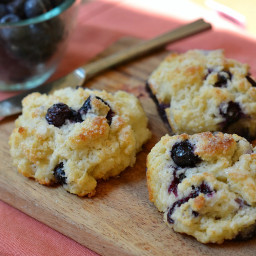 Sweet Blueberry Drop Biscuits