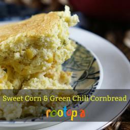 Sweet Corn and Green Chile Cornbread