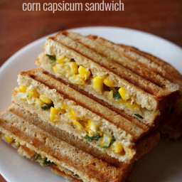 sweet corn capsicum sandwich recipe