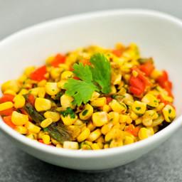 Sweet Corn Relish with Avocado, Jalapeno and Cilantro