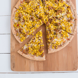 Sweet Corn, Sausage & Thyme Pizza