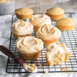 Sweet Cornbread Muffins with Sweet Potato–Cream Cheese Frosting