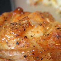 Sweet Hot Mustard Chicken Thighs