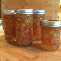 Sweet Pickled Watermelon Rind