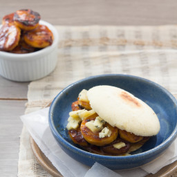Sweet Plantain & Blue Cheese Arepas