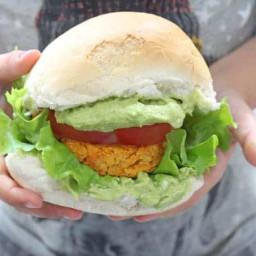 Sweet Potato & Chickpea Veggie Burgers