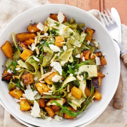 Sweet potato and almond pappardelle