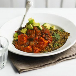 Sweet potato and black bean chilli with zesty quinoa