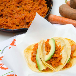 Sweet Potato and Carrot Tinga