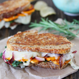 Sweet Potato and Kale Grilled Cheese