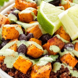 Sweet Potato Black Bean Quinoa Bowls