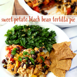 Sweet Potato Black Bean Tortilla Pie