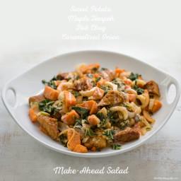 Sweet Potato Bok Choy Maple-Tamari Tempeh Salad