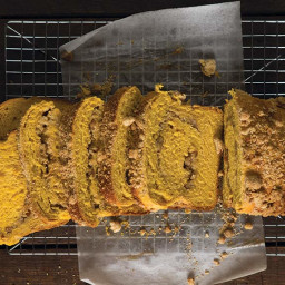 Sweet Potato Brioche with Orange-Pecan Streusel