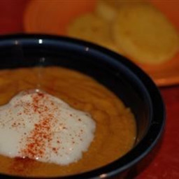Sweet Potato, Carrot, Apple, and Red Lentil Soup