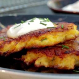 Sweet Potato-Chive Latkes