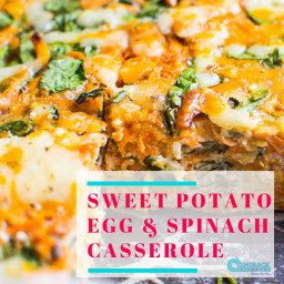 Sweet Potato Egg and Spinach Casserole