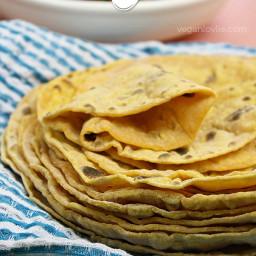 Sweet Potato Flatbread (Roti) | Oil-free + Yeast-Free + Vegan