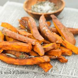 Sweet Potato Fries with Rosemary Salt