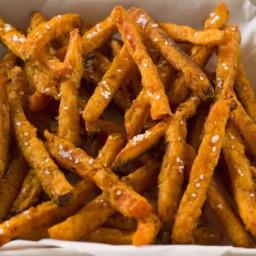 Sweet Potato Frites with Garlic-Rosemary Aoili