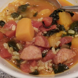 Sweet Potato, Kale &Chorizo Stew