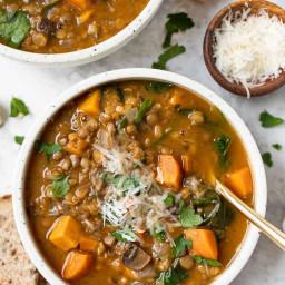Sweet Potato Lentil Soup (Vegan & Gluten-Free)