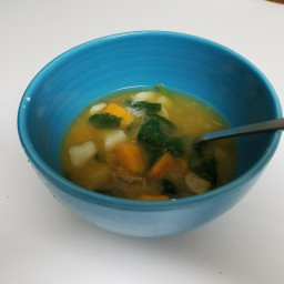 Sweet potato meatball soup