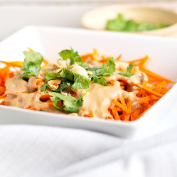 Sweet Potato Noodles with 5-minute Peanut Sauce