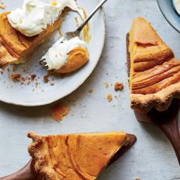Sweet-Potato Pie with Cornmeal Crust