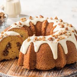 Sweet Potato Pound Cake with Cane Syrup Glaze and Pecans