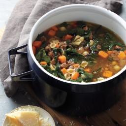 Sweet Potato-Sausage Soup