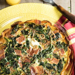 Sweet Potato, Spinach, And Bacon Quiche Recipe