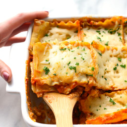 Sweet Potato Spinach Lasagna
