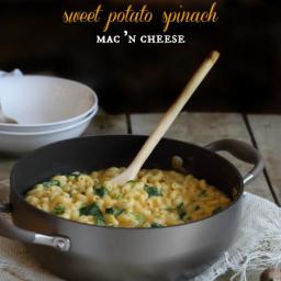 Sweet Potato Spinach Mac and Cheese
