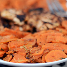 Sweet Potatoes Braised with Rosemary and Milk