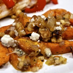 Sweet Potatoes with Pecans & Blue Cheese