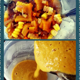 Sweet roasted bell pepper and sweetcorn pasta sauce