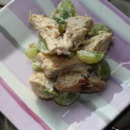 Sweet Teriyaki Chicken Salad with Grapes (FODMAPs friendly)