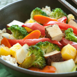 Sweet and Sour Chicken or Tofu and Vegetables