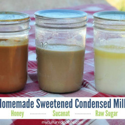 Sweetened Condensed Milk with Honey, Sucanat or Raw Sugar